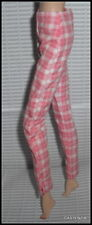 BOTTOM BARBIE DOLL SILKSTONE COUNTRY BOUND CHECKED CORAL PANTS ACCESSORY CLOTHES
