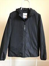 STUTTERHEIM Men XS Black Polyester Quilt Lined Hood Zip Parka Winter Jacket Coat