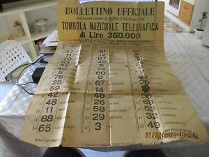 Mitteilungsblatt Offizier Zahlen Extrakte Lotterie Nationale Telegrafica