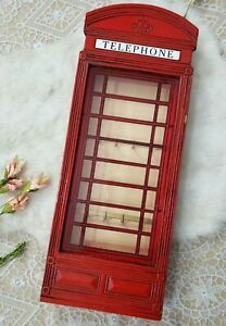 Curio Small Cabinet Made In France Red Phone Booth Dr. Who British Wall Display