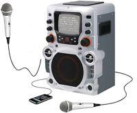 *2 Microphone Bundle*GPX JM250S Karaoke System w/ 2 Mics CD+G Home Party Machine
