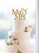 Mr and Mrs Sign, Bride And Groom Cake Topper Gold, Wedding Decorations, USA