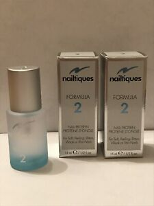 Nailtiques Formula 2 (Set Of 2) Nail Protein For Weak Nails 15ml Brand New