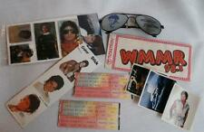 MICHAEL JACKSON 1984 Victory Tour Lot ~ 2 Tickets, Sunglasses, Stickers