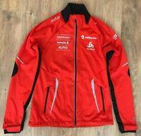 ODLO Lady Swiss Ski Rare womens Team red windbreaker windstopper jacket size S