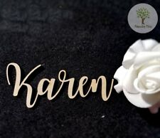 WEDDING EVENTS SEATING PLACE NAMES WOODEN PERSONALISED - STYLE 1