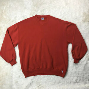 Russell Athletic Solid Red Sweatshirt Sz XL Long Sleeve Sweater