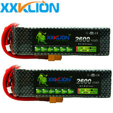 2pcs 14.8V 2600mAh 4S LiPo Battery 30C XT60 T Plug for RC Helicopter Drone Model