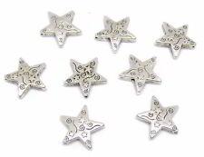 Metallperle Metall Perle Stern mit keltischem Muster 14x14mm 4x #01.00524