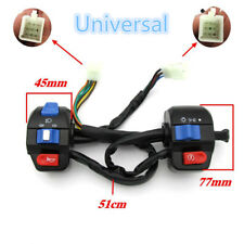 Pair Left+Right Motorcycle ATV Handlebar Mount Headlight/Turn Signal/Horn Switch
