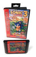 Sonic the Hedgehog 3 Sega Genesis Video Game in Box