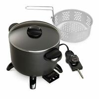 Presto Kitchen Kettle Electric Multi Cooker Roaster Steamer Deep Fryer Basket