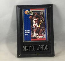 FLEER #220 LEAGUE LEADERS MICHAEL JORDAN CARD PLAQUE