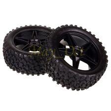 2x 1/10 HSP Off-road Buggy 06008 Front Wheel Rim Tyre,Tires Insert Sponge 66005