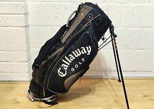 Black & Grey Lightweight Callaway Warbird Golf Carry Bag Self Standing
