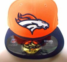 NFL Era 59fifty 5950 Denver Broncos on Field Flat Bill Fitted Hat Cap 7