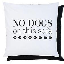 Clayre Eef Housse de coussin Coussin No Dogs NOSTALGIE shabby 50 50cm Noir