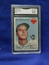 GREAT 1954 TOPPS#86 BILLY HERMAN CARD BEEN GRADE 6.5 BY GMA