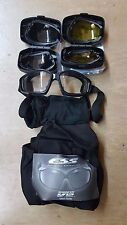 British Army Issue ESS Advancer V12 ESS Goggles with Black Frames Airsoft