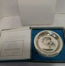 "New Listing1976 Franklin Mint Mother & Child Irene Spencer Mothers Day 8"" Plate Silver"