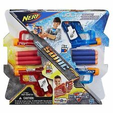 Brand New NERF N-Strike JOLT Dart BLASTER Mini ICE SONIC FIRE 4 Pack Red & Blue