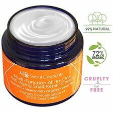 Korean Skin Care Snail Repair Cream Moisturizer - 97.5% Mucin Extract All In One