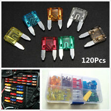 120pc Assorted Car Truck Small Size Profile Blade Fuses 5/7.5/10/15/20/25/30 AMP