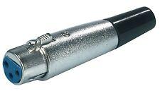 Connettore XLR 3-Pin Femmina Metallo Argento