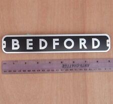 BEDFORD BADGE, 9 inch ALLOY PLATE BADGE, TRUCK, VAN, PICKUP, CAMPER, NEW