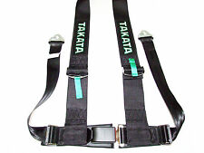 "Takata DRIFT III 4 Point Snap-On 3"" Racing Seat Belt Harness (Black)"