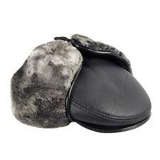 Casquette en cuir avec cache oreilles en Fausse fourrure et imitation cuir