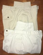 Lot Of 2 Pair Of Woman's Size 16 LizWear Khaki 100% Cotton Pants, Pre-owned