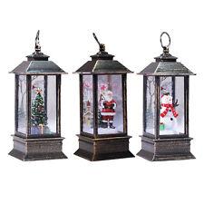 Portable Lantern Christmas Glittering Lighted Lantern Holiday Accent Light