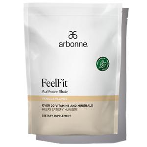 Arbonne FeelFit Pea Protein Shake - Vanilla Flavor #2070 - 2 LBs Bag