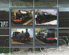 TRAINS OF THE WORLD STEAM TRAINS RAILWAY LOCOMOTIVE 2007 MNH STAMP SHEETLET