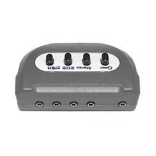 Stereo 3.5mm Audio selector earphone speaker 4:1 Switcher box 1:4 port Female