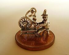 LOVELY STERLING SILVER ' WELSH LADY AT SPINNING WHEEL '  CHARM