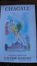 Marc Chagall Lithograph Galerie Maeght  1981 Male Figure and Paris Opera