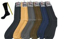 Mens Dress Socks 6 Pairs Lot Ribbed Crew Style Casual Fashion Size 9-11 10-13