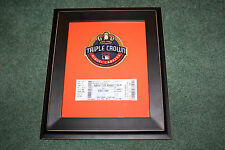 Miguel Cabrera TRIPLE CROWN PATCH TICKET Detroit Tigers baseball  framed