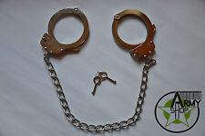 Nuevo us Police carbon leg cuffs Handcuffs Army prisión Prison pie cadena de policía