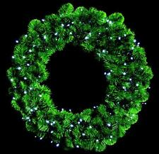 Led Xmas Wreath Christmas Lights 140 White Bulbs In/outdoor Decoration