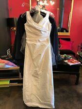 Cicada white wedding dress with veil XS