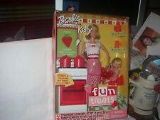 Mattel Barbie & Kelly Dolls Fun Treats Set 2001 New In Display Pack