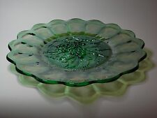 Vintage Carnival Green Plate, Grape Design,  Imperial Glass Company, U.S.A.