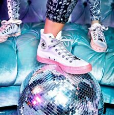 Entièrement neuf dans sa boîte Converse Miley Cyrus Chuck Taylor All Star Pink Glitter 39 40 Uk 6 7 Bottes