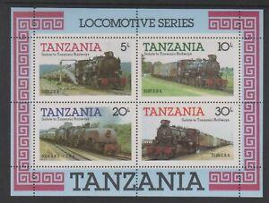 Tanzania - 1985, Locomotive Steam Trains sheet - MNH - SG MS434