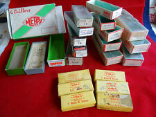 A LARGE COLLECTION OF EMPTY LURE BOXES INC. ABU, MEPPS AND RAPALA