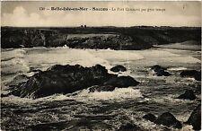 CPA   Belle-Isle-en-Mer- Sauzon - Le Port Qonnant par gros temps (431545)
