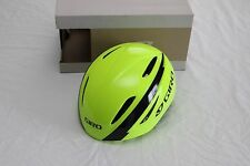New Giro Air Attack Aero TT Tri Road Bike Helmet Yellow Black Large Triathlon
